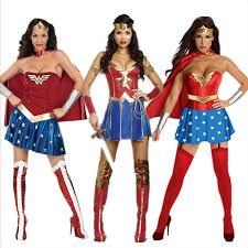 Halloween Stores Online Women U0027s Halloween Costumes Wonder Woman 3 Roles Leather Corset