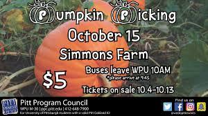 pumpkin picking pitt program council