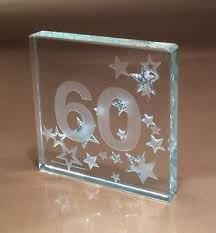 60 birthday gifts 60th birthday gift ideas spaceform glass token sixty gifts 60