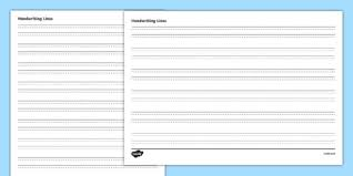 lined handwriting sheets four lined handwriting writing