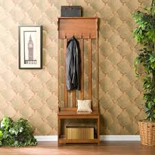 Mini Hall Tree With Storage Bench Hall Trees On Sale Bellacor