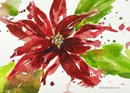 12 days of christmas cards poinsettia jennifer branch art