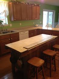 what to put on a kitchen island kitchen island made from a set of stairs the wall painting