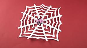 diy spider web of paper cobweb for halloween etc decor