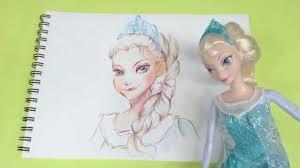 speeddrawing elsa draw frozen characters