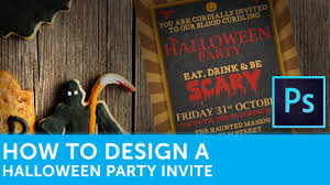 how to design a halloween party invitation in adobe photoshop