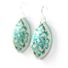 unique earrings baroque marquis earrings paint me teal unique