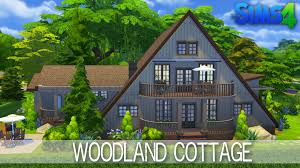 the sims 4 house building woodland cottage speed build youtube