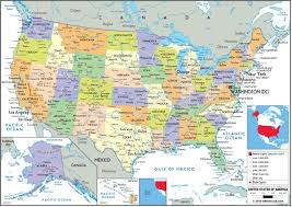 map of america showing states and cities 57 best popular wall maps images on wall maps