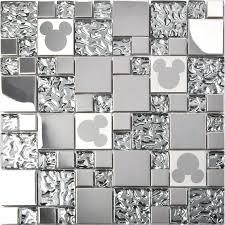Steel Tile Backsplash by Tst Stainless Steel Mickey Mouse Tiles Mirrored Glass Water Drops