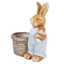 wonderland rabbit planter planters pot animal statue garden