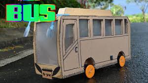 membuat miniatur mobil dari kardus keren membuat bus dengan kardus mainan kendaraan anak youtube