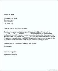 sponsor thank you letter template templatezet