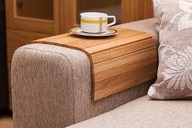 couch arm coffee table amazon com sofa tray table oak wooden tv tray wooden coffee table
