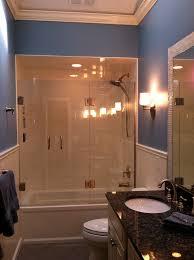 glass tub shower doors frameless chic frameless shower door in bathroom traditional with frameless