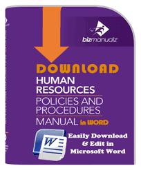 human resource policies and procedures hr templates