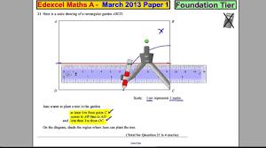 edexcel gcse maths foundation p1 march 2013 q21 youtube