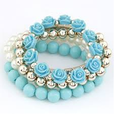 flower beads bracelet images Xiacaier bracelets for women sweet flower multilayer beads stretch jpg
