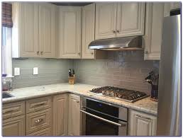 grey subway tile backsplash kitchen tiles home design ideas