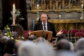 sir ian botham attends service of thanksgiving for brian cbe
