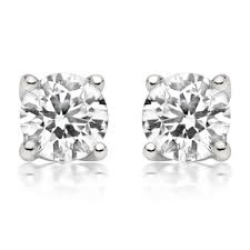 diamond stud earrings uk platinum diamond stud earrings 0002496 beaverbrooks the jewellers