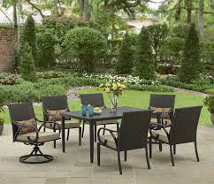 Garden Patio Table And Chairs Better Homes And Gardens Layton Ridge 7 Piece Patio Dining Set