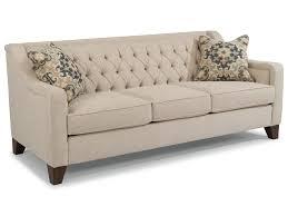 flexsteel sullivan contemporary sofa with tufted back furniture