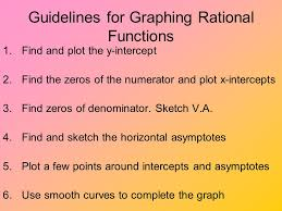objectives identify rational functions analyze graphs of rational