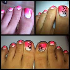 toe nail designs cross nail art design