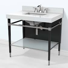 art deco 36 inch modern bathroom vanity with quartz top