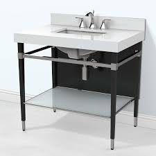 Bathroom Vanity With Top by Art Deco 36 Inch Modern Bathroom Vanity With Quartz Top