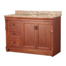 foremost naples 49 in w x 22 in d bath vanity in warm cinnamon