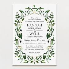wedding invitations greenery gorgeous greenery wedding invitation printable press