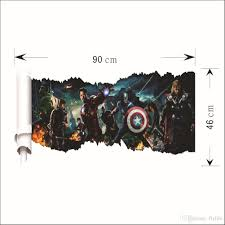 3d effect cartoon wall sticker decor art mural super hero high quality self adhesive matte vinyl stickers no tools required with little cost or effort you can decorate your home without the trouble or expense of