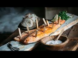 cuisine viking viking salmon with flatbread and skagen sauce scandinavian