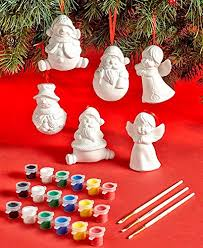 12 pc paint your own ornament set