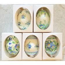 hanging floral eastern european egg ornament large duck egg