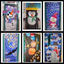 decorate a classroom door for winter just bcause winter door