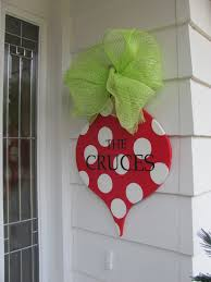 christmas door decor hand painted and personalized craft it up