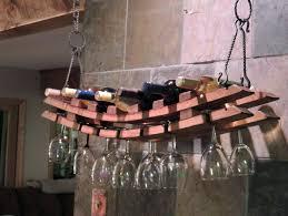 wine rack wine glass rack wall mount amazon hanging wine rack