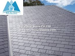 Tile Roofing Materials Grey Slate Roof Tiles Hubei Grey Split Slate Tile Roof