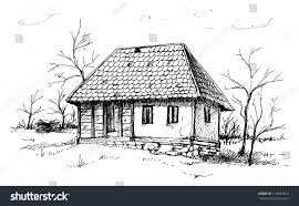 old house old house sketch stock vector 113064463 shutterstock