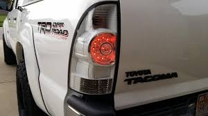 2016 toyota tacoma tail light white taillight mod completed toyota tacoma toyota and truck mods