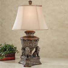 kings palace lion table lamp