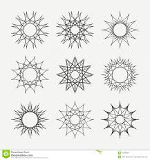simple monochrome geometric abstract symmetric stock vector