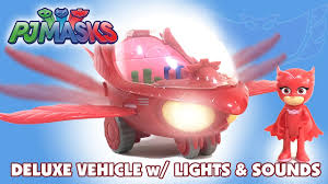 pj masks deluxe vehicles owlette owl glider gekko catboy play