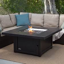 napoleon square propane fire pit table outdoor wooden with medium
