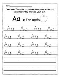 capital and lower case letter trace aa zz by kindergarten busy bees