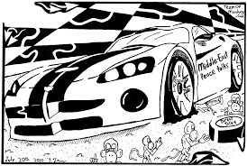 cartoon sports car black and white maze cartoon of a sports car labeled