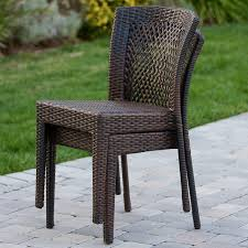 amazon com dana point outdoor patio furniture brown wicker chairs